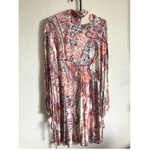 NWT Free People Long Sleeve Maxi Dress - High Neck